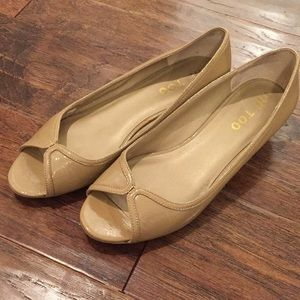 Me Too nude color shoes peep toe size 7